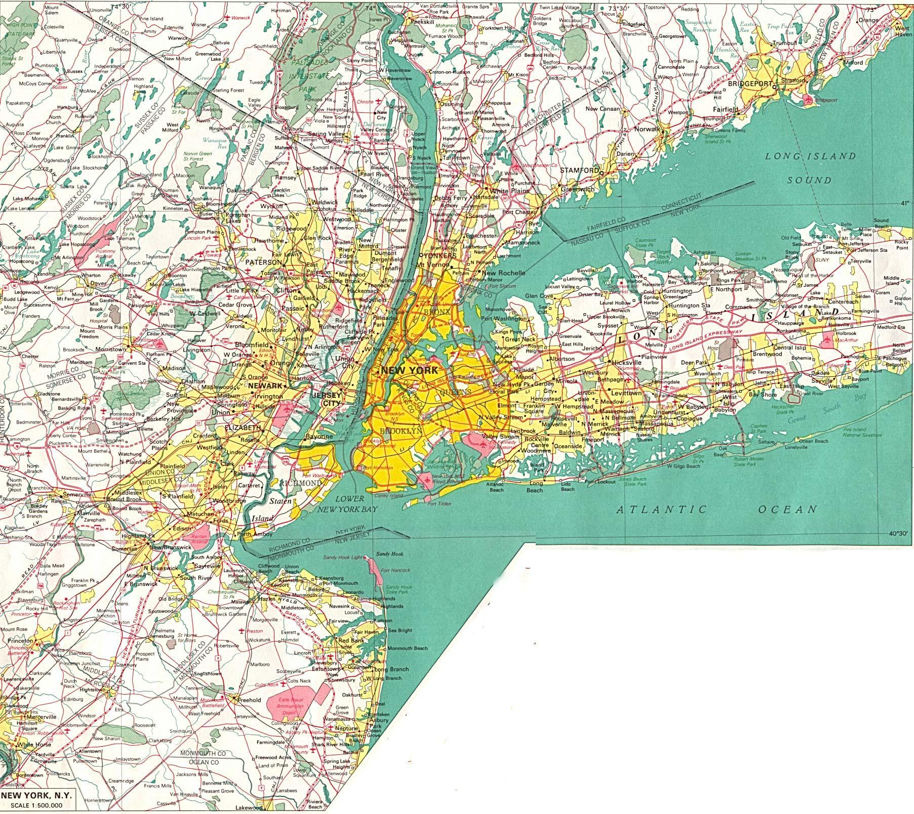 New York Kartalla New York Sijainti Kartalla New York Usa